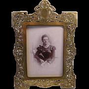 Art Nouveau French Photo Frame - signed