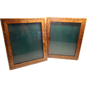 Photo Frames - A pair vintage of inlaid wood