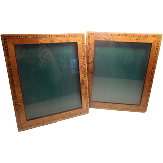 Photo Frames - A pair vintage of inlaid wood