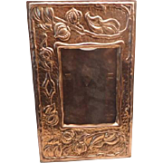 Art Nouveua Arts & Crafts Copper Photo Frame Large