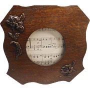 Art Nouveau Photo Frame - with carved wood flowers.