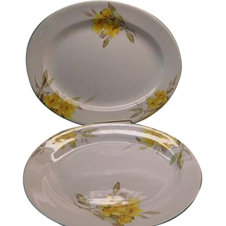 "Shelley ""Primrose""  China  -  pair of platters"