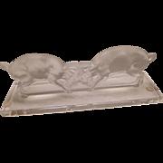 Lalique Figurine - Bulls - Unusak