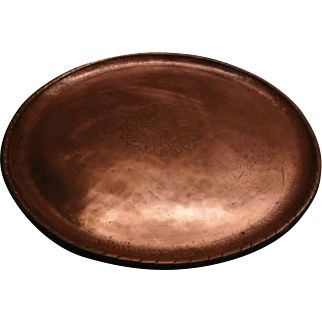 Arts & Crafts Copper Tray by Hugh Wallis - large