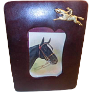Photo Frame - Vintage leather with horse motif,