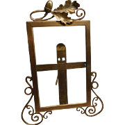 Art Nouveau Brass Photo Frame - Highly Unusual