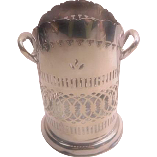 Wine Holder - Mappin & Webb Silver Plate - Tall piece
