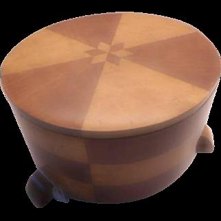 Art Deco Box - Inlaid wood and very unusual.
