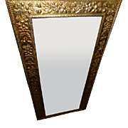 Mirror - Edwardian period English Patterned brass