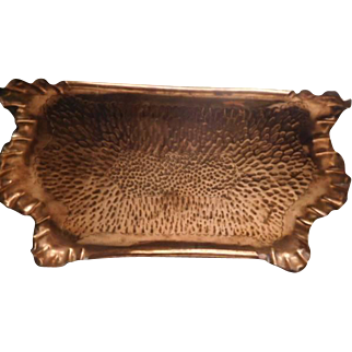 Arts & Crafts Copper Tray - Nice design