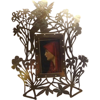Art Nouveau Brass Photo France - Very Very Unusual