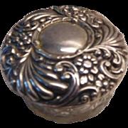 Art Nouveau  Sterling topped Powder Jar 1898 mark