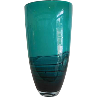Glass Vase-Mid Century Modern-Hand made