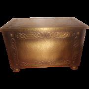 Arts & Crafts Brass Scottish Flat Topped Coal Box