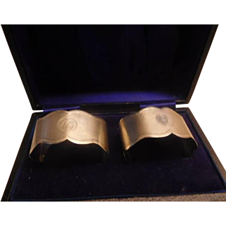 Sterling Napkin Rings Pair boxed
