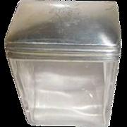 Sterling Topped Dresser Jar - English Hallmark around 1905
