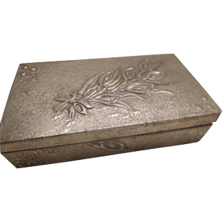 Art Nouveau Pewter Box