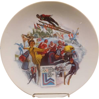 "Olympics 1980 Lake Placid Commermotive Plate Ltd Edition ""Miracle on Ice"""