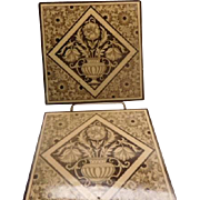 Minton Aesthetic Tiles - Pair circa 1882