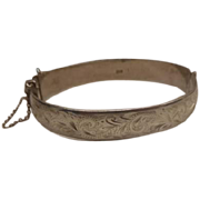 Bracelet - Sterling Bangle - Vintage