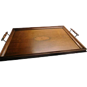 Inlaid Wood Tray - with handles, English C.1930's