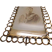 Photo Frame - Antique Brass with ring design