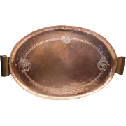 Arts & Crafts Copper Tray - Scottish Hand made with handles - large