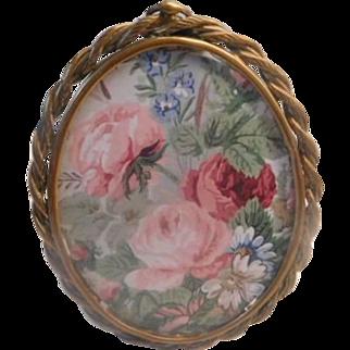 Oval Brass Vintage Photo Frame