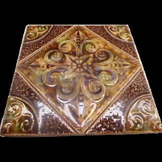 Tile Antique Majolica Arts & Crafts