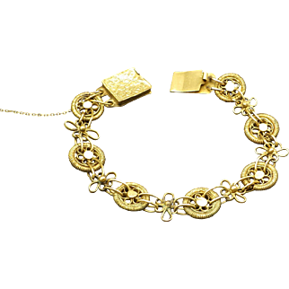 Old Handmade Chinese Petite Bracelet With Safety