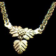 10k Black Hills Gold Petite Pendant Necklace 1940s Coleman Company