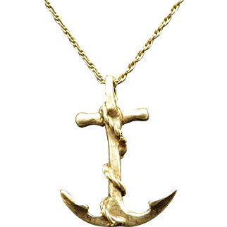 Handmade Vintage Sailors Cross Pendant Necklace
