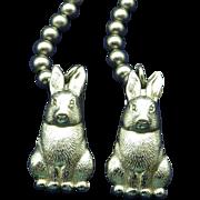 1940s Bib Clip, Baby Bib Holder Vintage Collectible Bunnies