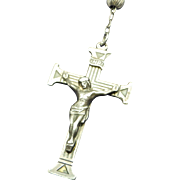 Vintage Solid Sterling Rosary Mysteries Book Centerpiece Beautifully Detailed
