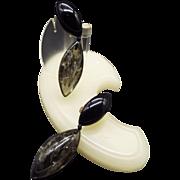Lucite Clip Earrings Shoulder Dusters 1960s