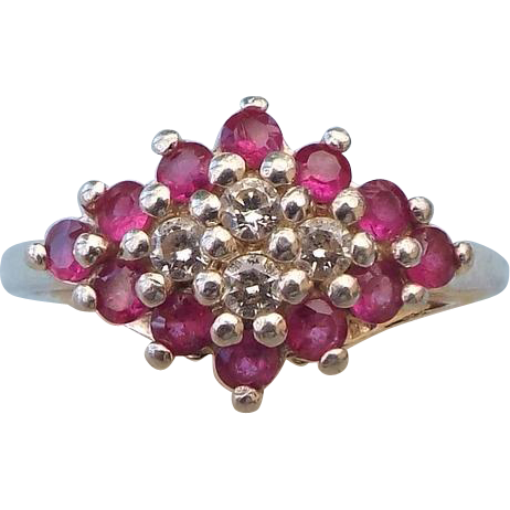 Signed Sterling Ring, Size 5, Genuine Rubies! SOLD on Ruby ...