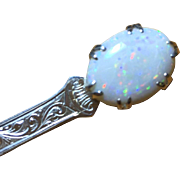 13.27 Carat Natural Opal Gemstone Victorian Kilt Pin, Extraordinary Antique Treasure!