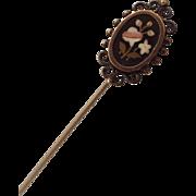 Antique Pietra Dura Stick Pin Italian Design Antique Treasure!