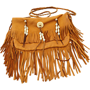Pow Pow Fringe Native American handmade Soft Leather Handbag!