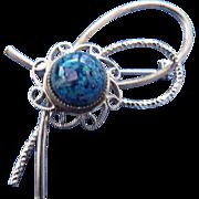 1960s Encapsulated Opal Gemstone Brooch Simply Beautiful!