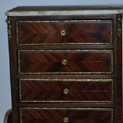 Miniature Tall Chest of Drawers - circa 1900