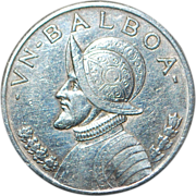 Very Fine Panama Silver One Balboa Coin - 1934