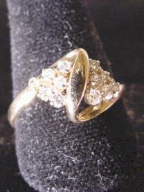 14K Diamond Pave  Fashion Ring