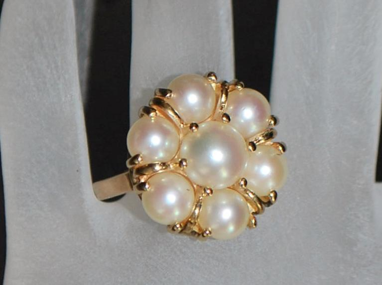 14K  Fine Cultured Pearl  Ring - 1980's