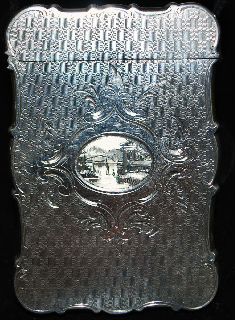 Fine Victorian Sterling Lady's Card Case