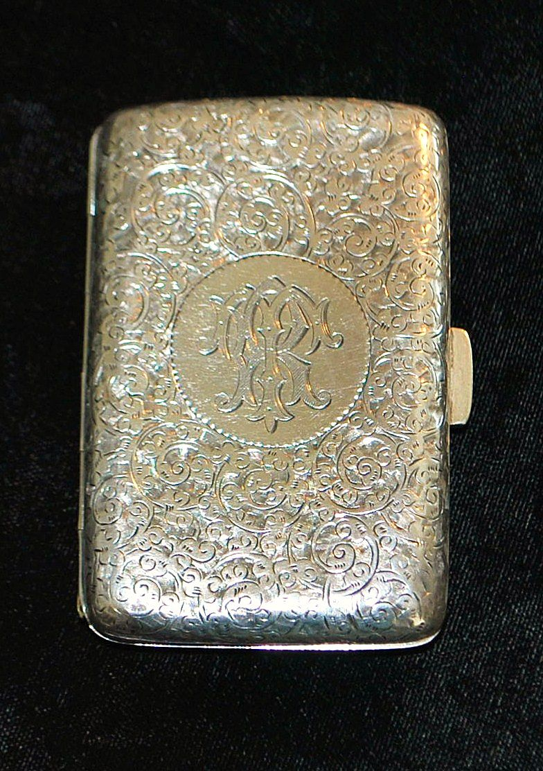 English Sterling Silver Engraved Case, 1895