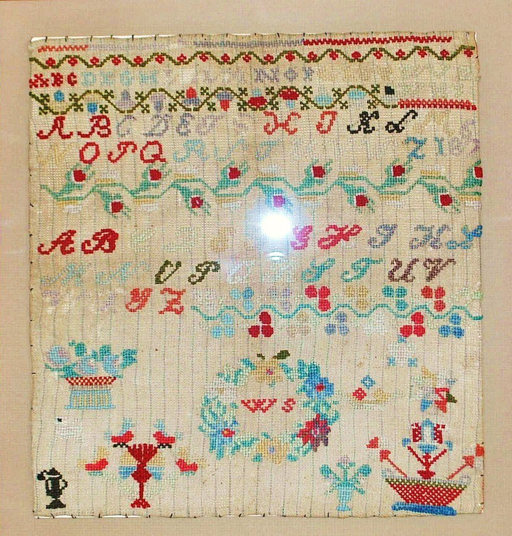 American Alphabet Sampler, Dated 1867