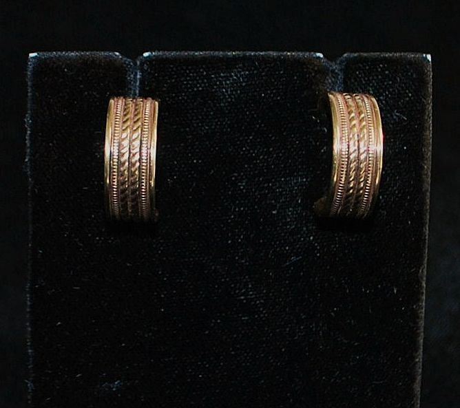Pair of 14K Gold Earrings Made By Artcarved
