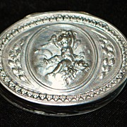 French Henin & Cie 950 Silver Pill Box, c. 1900 - Red Tag Sale Item