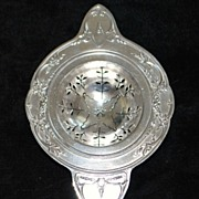 French Silver Tea Strainer by Boulenger 1920's